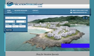 Vacation Store website